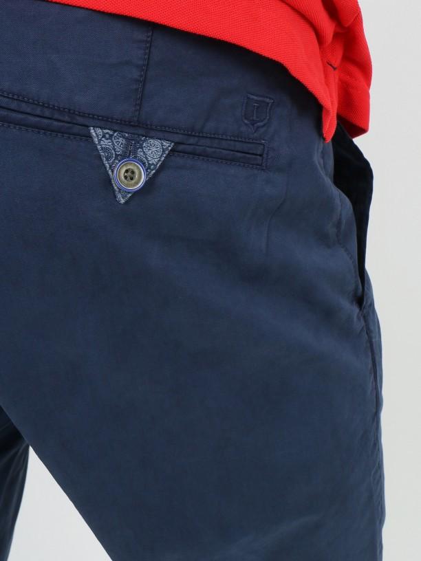 Cotton chino bermuda shorts
