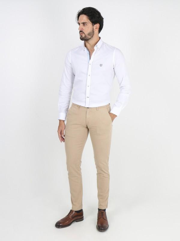Pantalones chino slim fit algodón