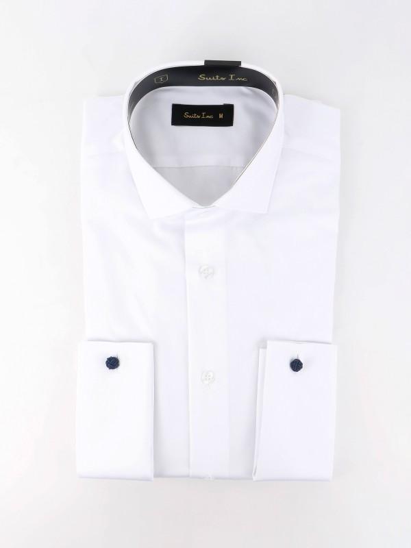 Camisa clássica regular fit para botão de punho