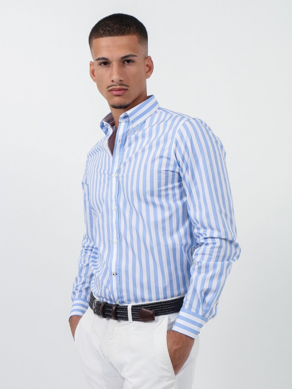 Camisa de algodón rayas
