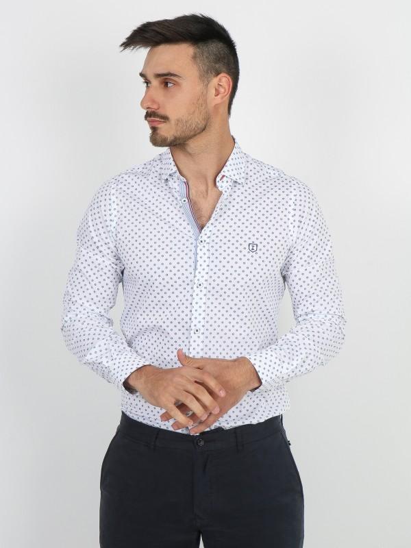 Camisa padrão florido slim fit