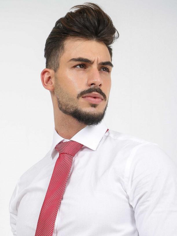 Slim fit micro pattern classic shirt