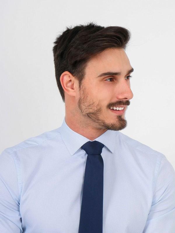 Regular fit micro pattern classic shirt