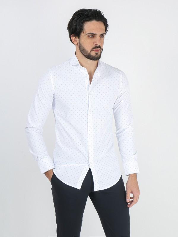 Camisa clássica slim fit com padrão