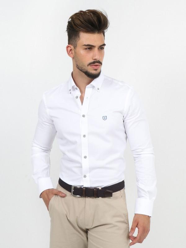 Camisa de algodão com cotoveleira