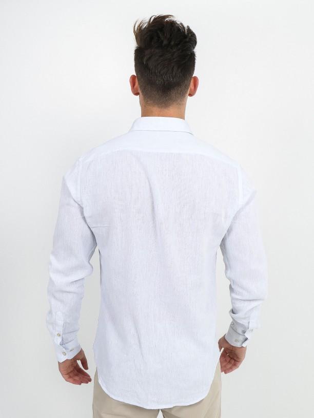 Relaxed fit linen cotton shirt