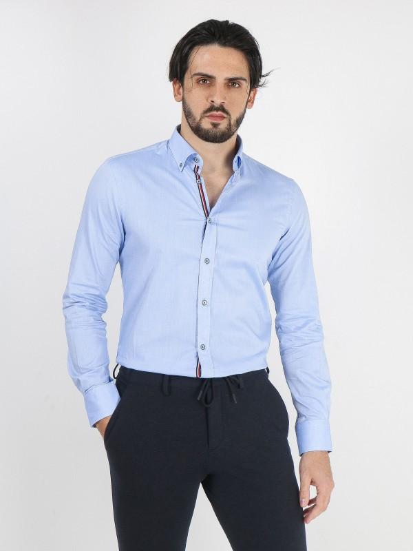 Camisa lisa 100% algodón