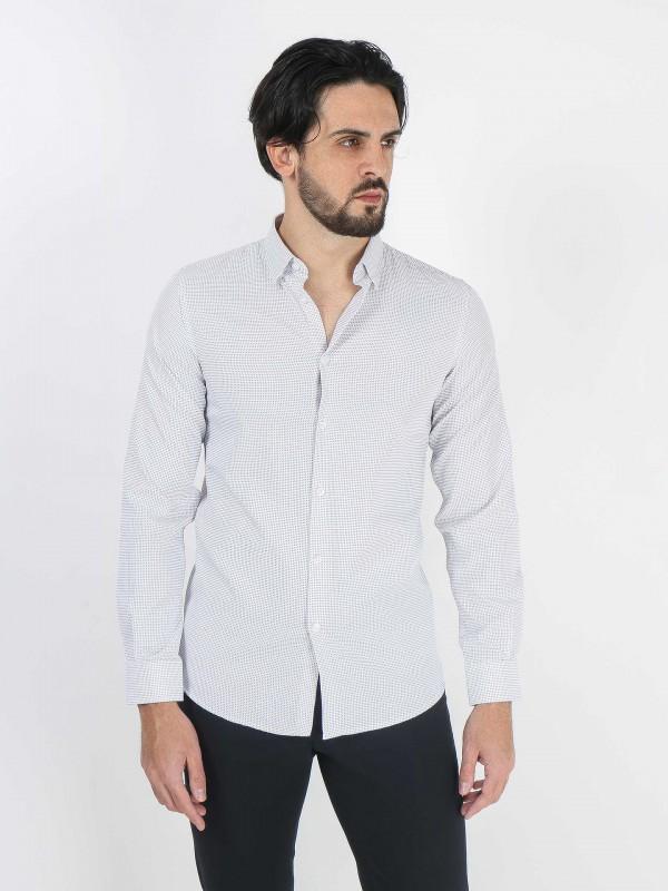 Camisa micro padrão slim fit