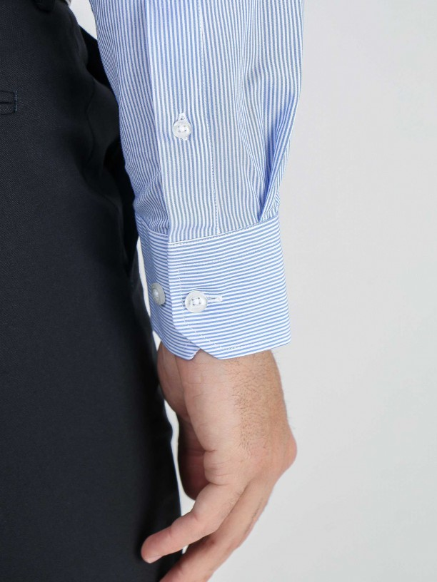 Regular fit striped classic shirt