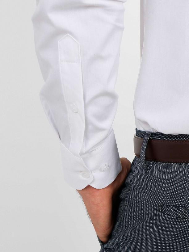 Regular fit plain cotton elegant shirt
