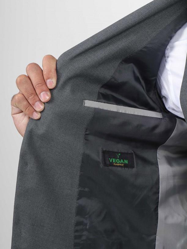 Blazer clássico vegan fabric