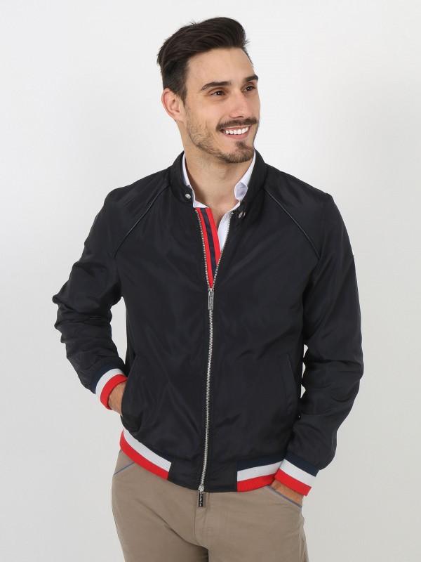 Tricolor detail technical jacket