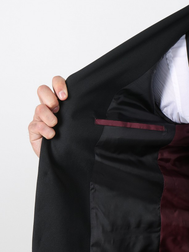 Vegan fabric elegant blazer