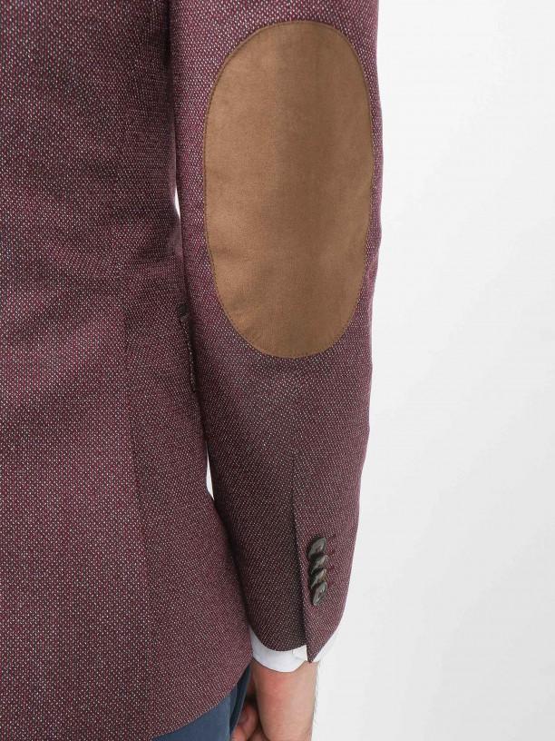 Blazer de micro padrão com cotoveleira
