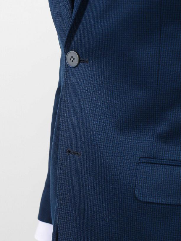 Slim fit micro pattern blazer