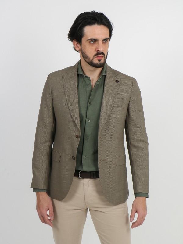 Structured linen cotton blazer