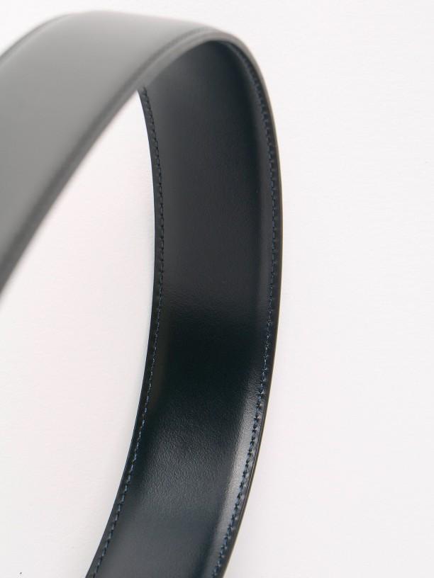 Cinturón elegante de piel reversible