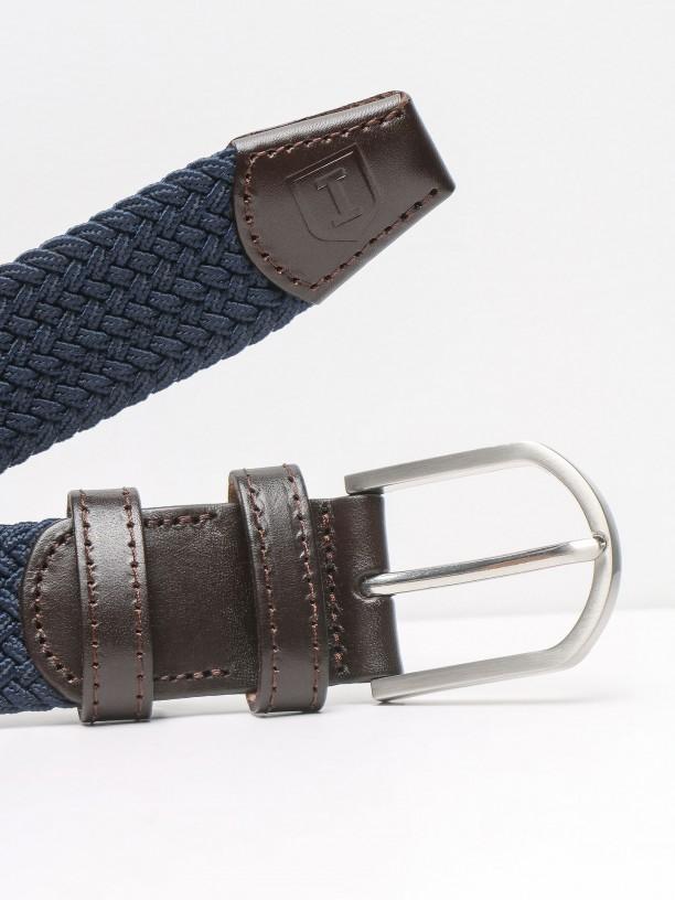Cinturón casual entranzado