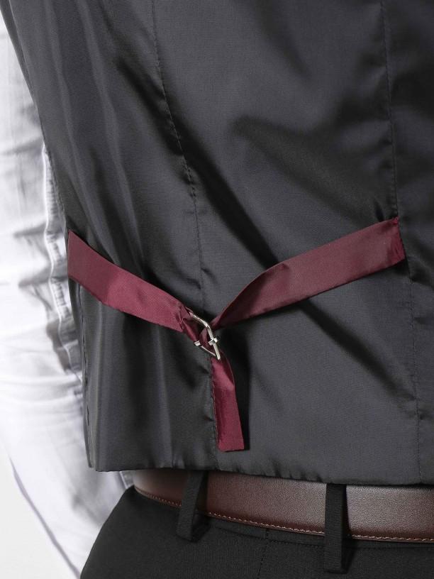 Vegan fabric elegant waistcoat
