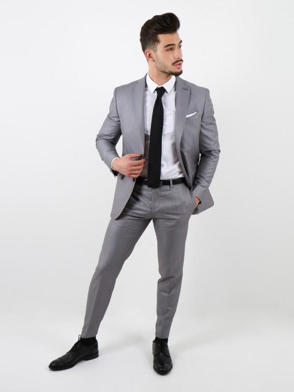 Plain slim fit suit