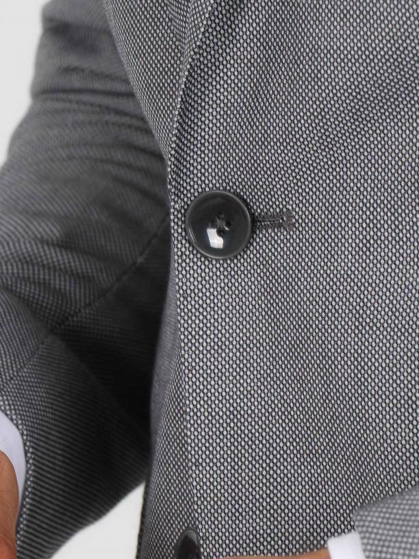 Regular fit micro pattern suit