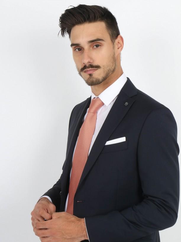 Slim fit 100% wool plain suit
