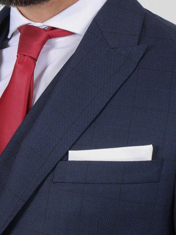 Traje de estampado cuadros regular fit con chaleco