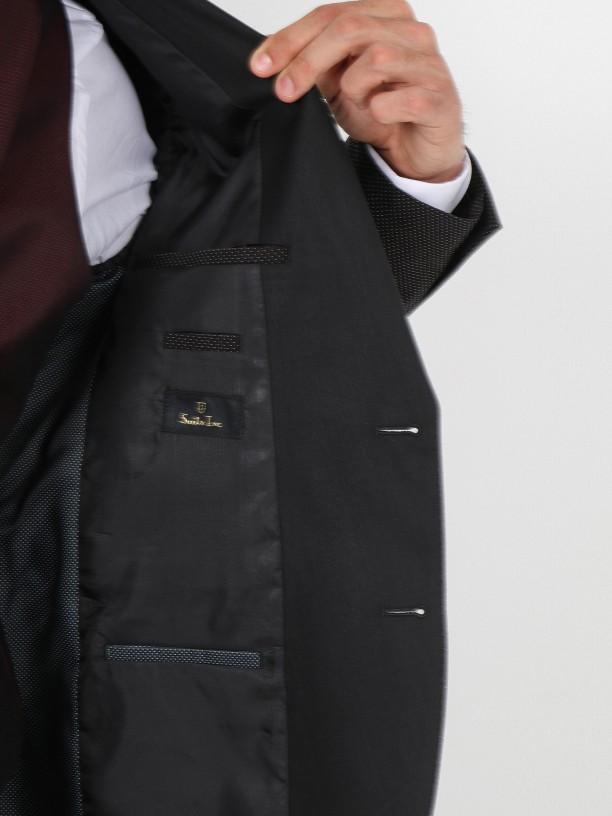 Slim fit elegant suit with waistcoat