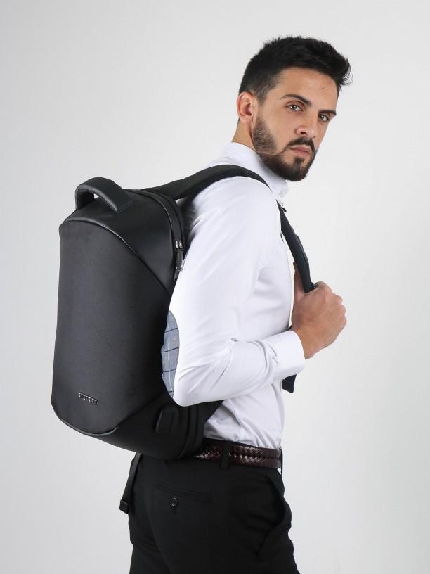 Black smart backpack