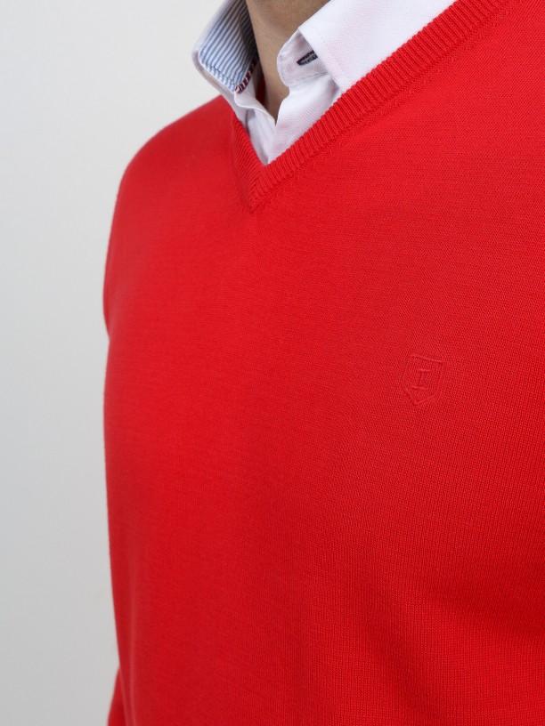 100% cotton knit sweater