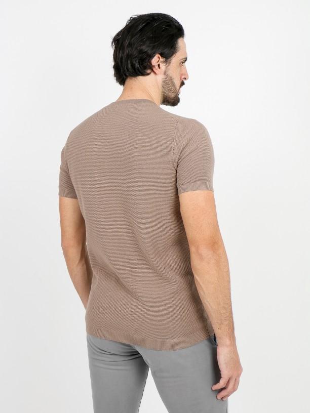 Camiseta de punto estructura algodón