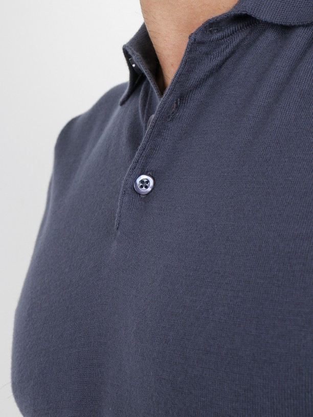 100% cotton knit polo