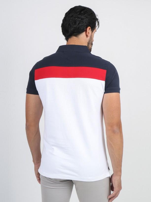 Tricolor polo shirt