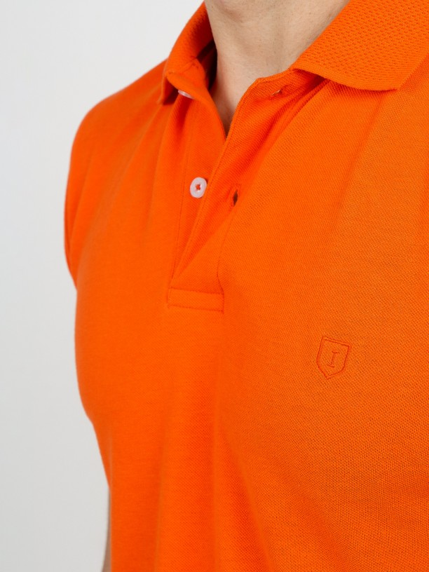 Pique polo shirt 100% cotton