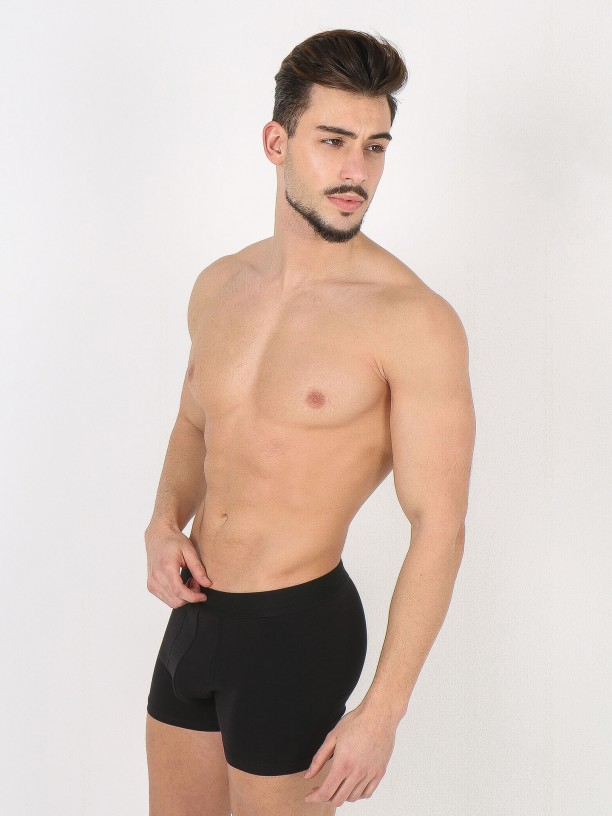 2-pack elastic cotton boxers