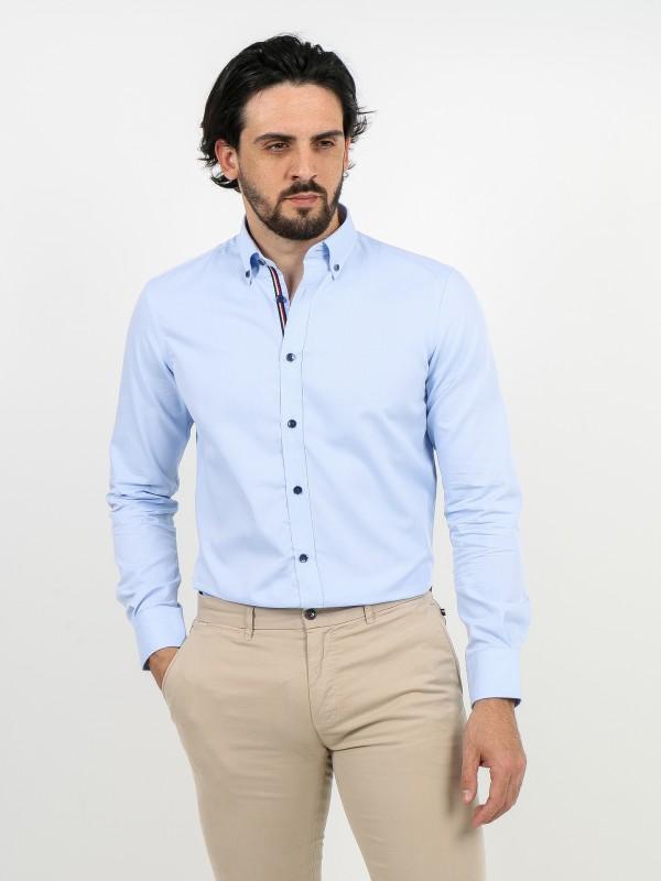 Camisa de micro estructura 100% algodón