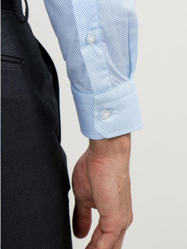 Micro pattern slim fit shirt