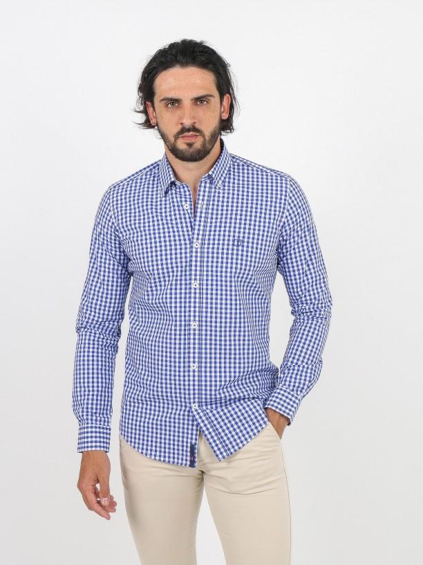 Camisa de algodón cuadros