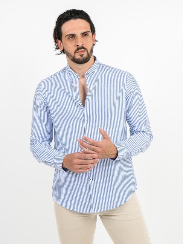 Mao collar 100% cotton shirt