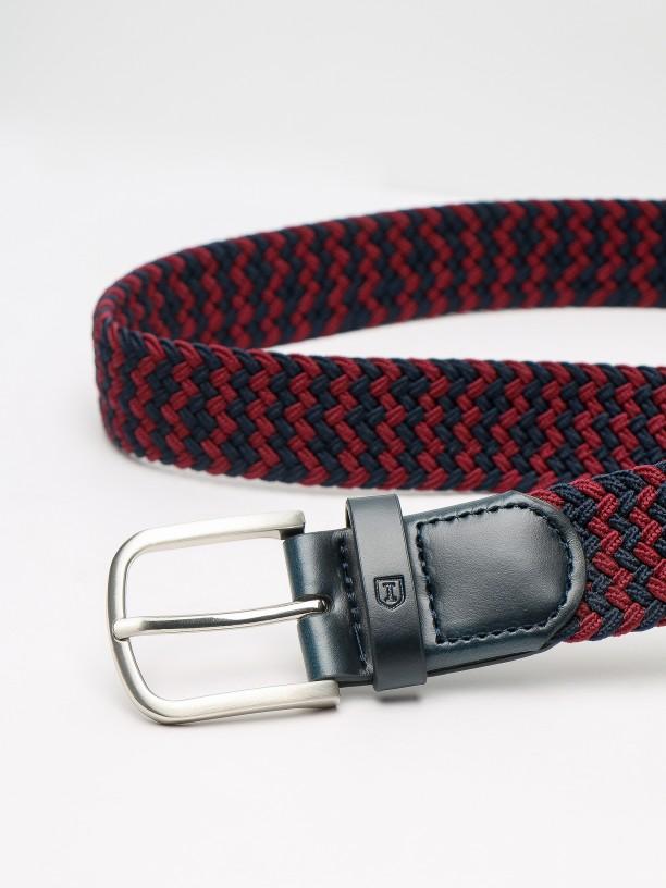 Bicolor braided detail belt