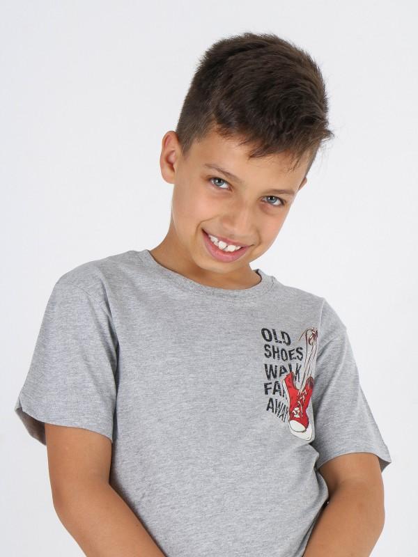 T-shirt de algodão com desenho