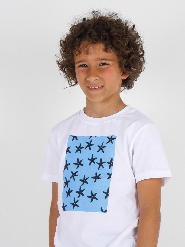 Camiseta 100% algodón con estampado