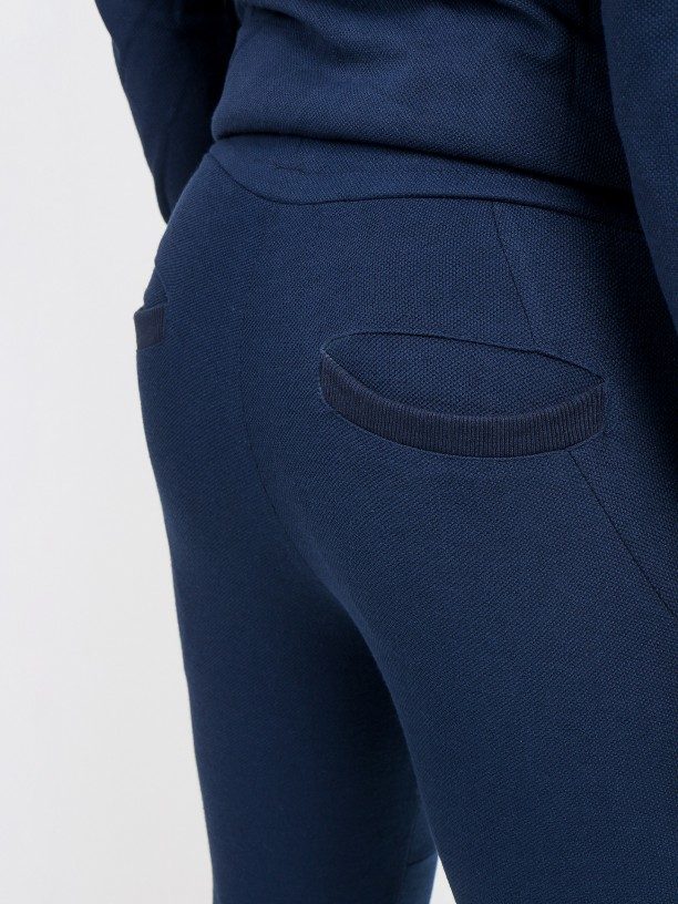 Structured tracksuit pants