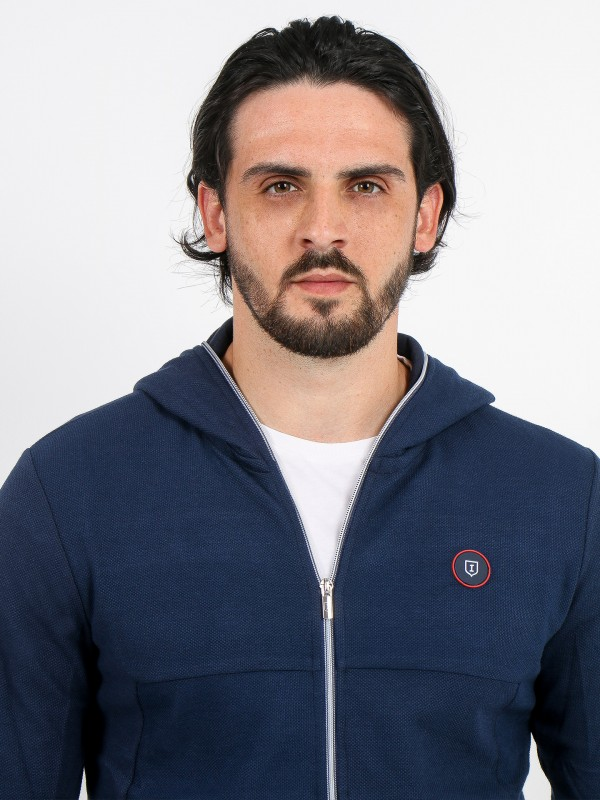 Sport structured hooded cardigan