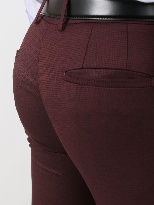 Microstructure slim fit suit
