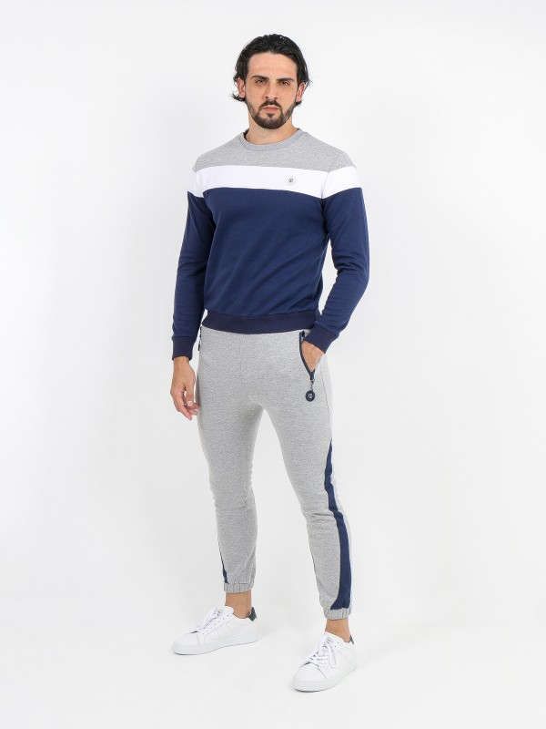 Tracksuit pants with side band detail