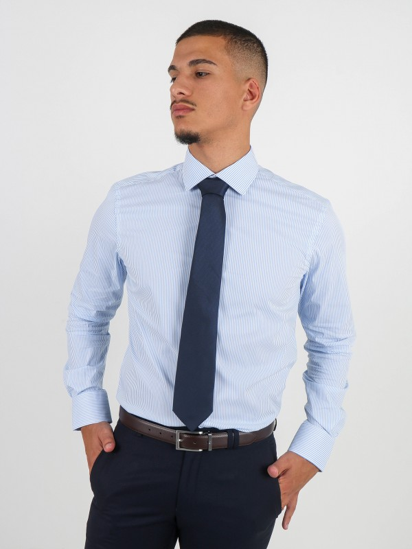 Camisa clásica rayas regular fit