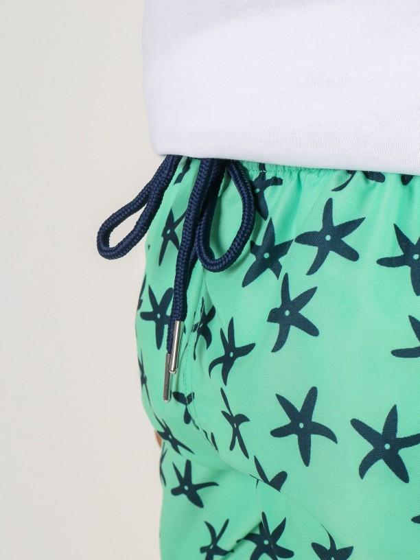 Stars pattern swim shorts