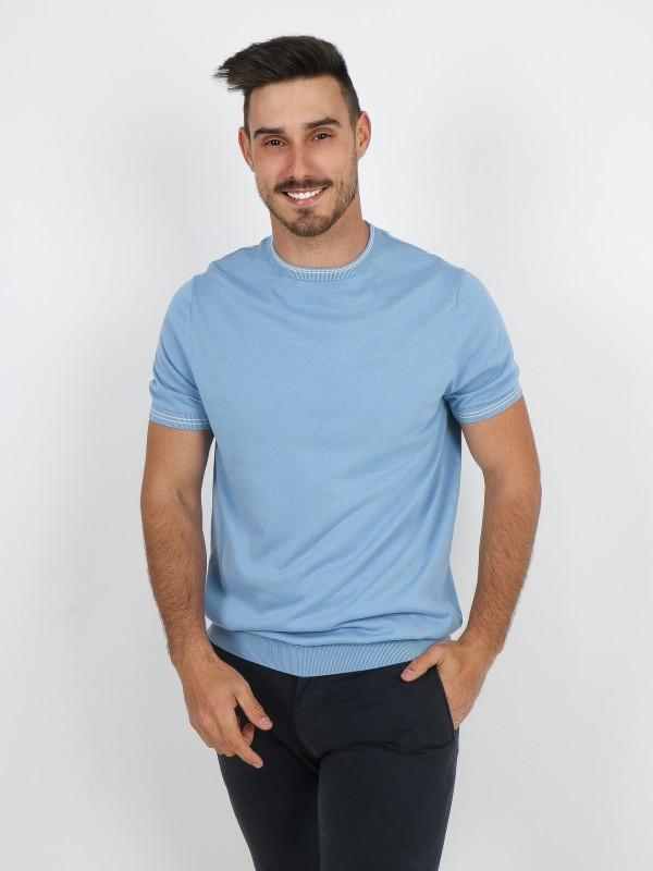 T-shirt de malha 100% algodão