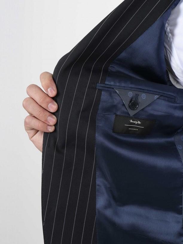 Slim fit 100% wool suit